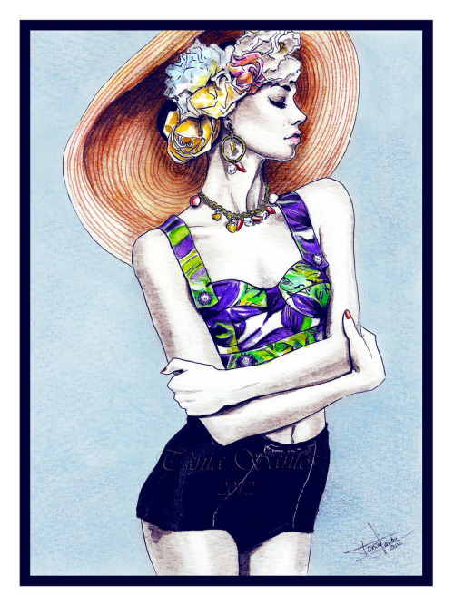 """Dolce & Gabbana"" New fashion illustration in watercolors. 2012"
