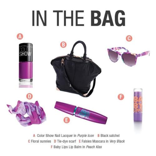 maybelline:  Midweek essentials. What are you packing?