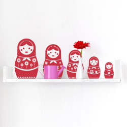 New Russian doll wall stickers here !