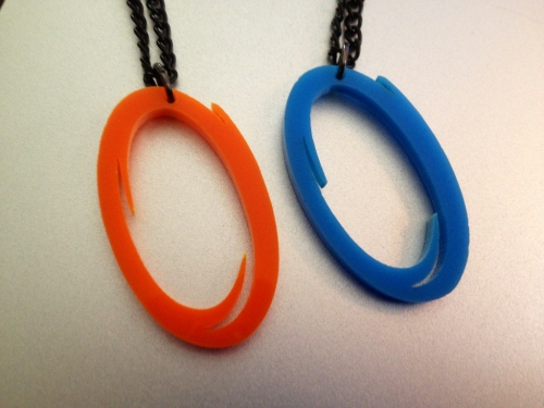 My portal necklaces came in the mail! Want a pair of your own? You can get them right here!