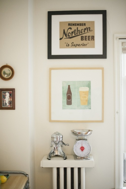 NORTHERN BEER IS SUPERIOR witanddelight:  (via Style At Home: Kate Arends Of Wit & Delight | theglitterguide.com)