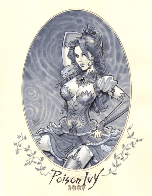 dcplanet:  Poison Ivy 1887 Illustration by Michael Dooney  I absolutely love this.