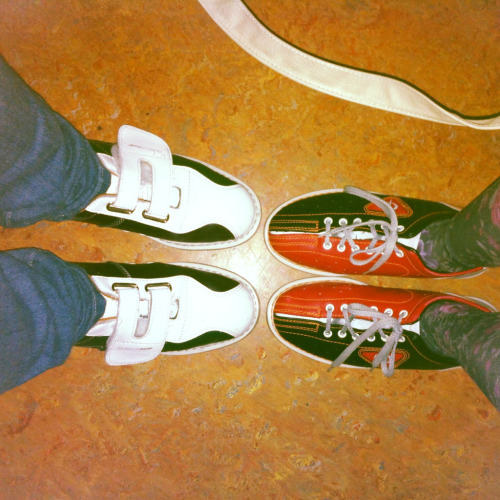 Look at mine and Wals sexy bowling shoes :) the bad side of not being at uni for 4 months is the amount of money I'm spending because I have nothing to do :/