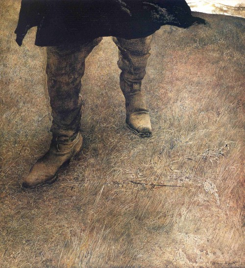 Trodden Weed  Andrew Wyeth, self-portrait, 1951.