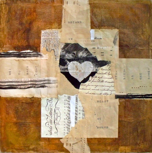 come back to me 15 x 15 mixed media on paper caterina giglio