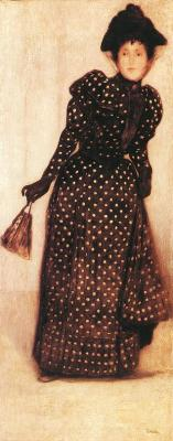 rosebiar:  Woman Dressed in Polka Dot Dress ~ József Rippl-Rónai, 1889  http://www.museumsyndicate.com