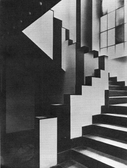 betonbabe:  JEAN ARP AND SOPHIE TAEUBER-ARP STAIRWAY IN THE CAFÉ AUBETTE IN STRASBOURG, 1928