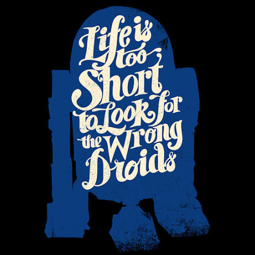 "Droid ""Life is too Short"" series by zerobriant. As an iPhone or iPod case, t-shirt, sticker, and more."