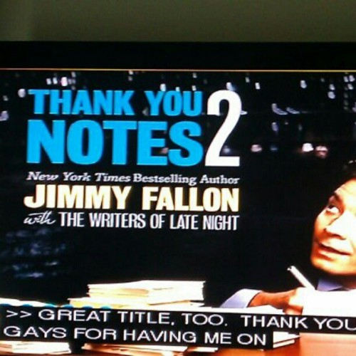 #JimmyFallon #ThankYou #gay #closedcaption (Taken with Instagram)