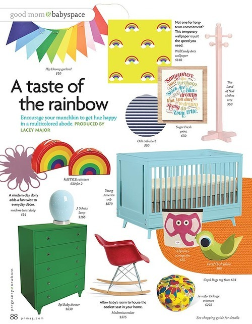 Young America Crib in Pregnancy & Newborn Magazine, June 2012