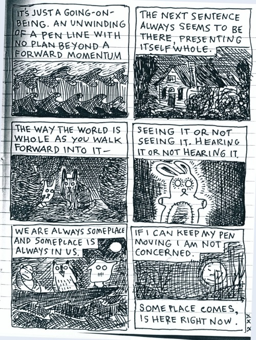 thenearsightedmonkey:  Lynda Barry sketchbook page, 2 of 2