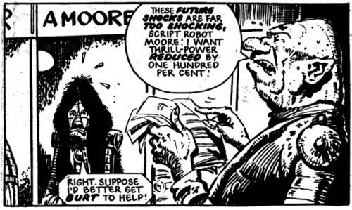 'I Want Thrill-Power Reduced By One Hundred Per Cent!' The Shedding, 2000AD Prog 284 (1982), artist: Eric Bradbury