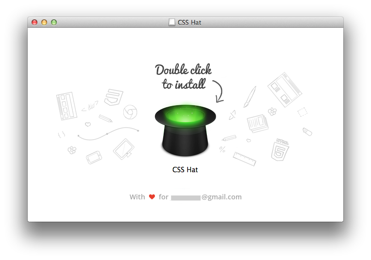 littlebigdetails:  CSSHat - After purchasing and downloading CSS Hat, it adresses you by your email in the installation process. /via Jonathan Shariat  Hooooooooly crap that is a nice touch. Attention to detail, friends: get some.