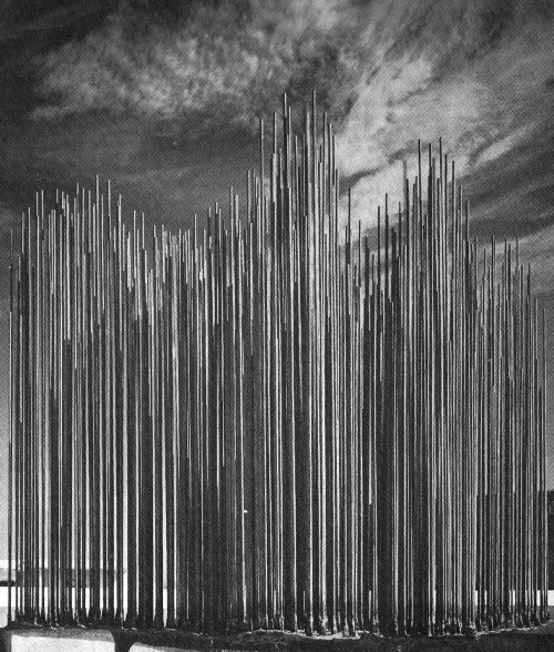 HARRY BERTOIA SCULPTURED FOUNTAIN IN CALUMET, ILLINOIS, 1966