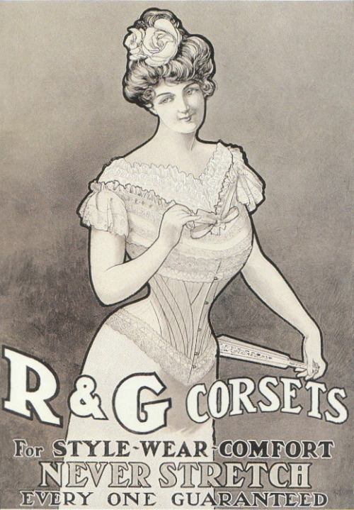 R&G Corsets 1902. http://ohemv.com/20th-century-lingerie-ads-of-the-past-part-i/