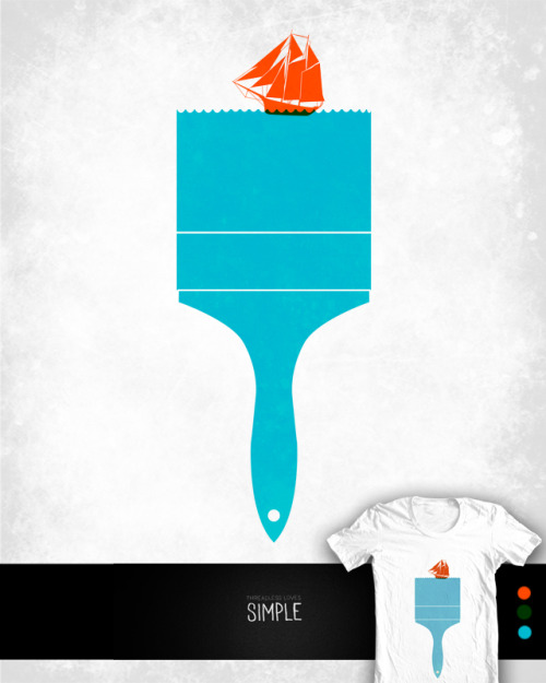 Sea Brush Up for voting at Threadless  facebook / tumblr / society6 / twitter / Website / curioos