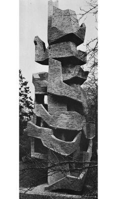 rollership:  betonbabe:  ANDRÉ BLOC BRICK AND CONCRETE TOWER IN MEUDON, FRANCE, 1966  In Utopia these kind of things are all over for exercise. This is a simple one but my memory recalls a building that one can rollerskate or skateboard down slowly spiraling down a giant ring shaped  wall.