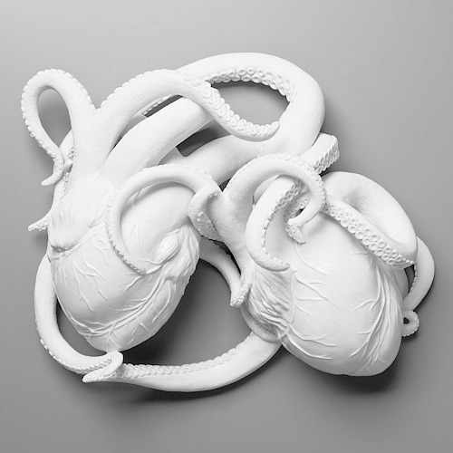 sweetwithdrawal:  see these two octopus look like hearts.