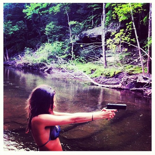 Freeze #upstate #escapeNYC #shooting #guns #bikini  (Taken with Instagram)