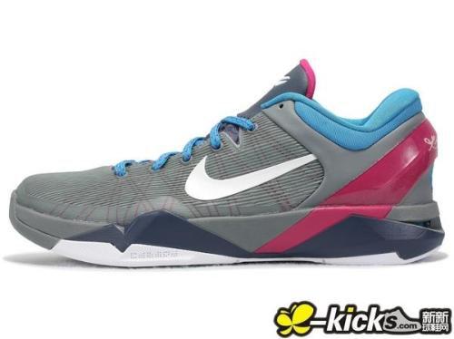 Nike Zoom Kobe VII - Grey/Navy/Maroon/Blue a look at a new Kobe VII colourway coming for this summer. Grey uppers with Blue/Maroon accents on a Navy midsole.  got a really nice colour combination going on with these.  click here for more pics Related articles Nike Zoom Kobe VII 'What The Kobe' (sneakernews.com)