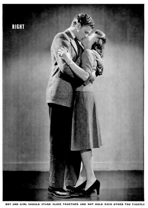 newsweek:  A helpful illustration how to properly kiss a lady. [From a 1942 copy of LIFE, dug-up by Copyranter]