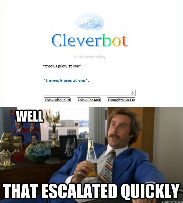 theamericankid:  Clever bot knows how to fight