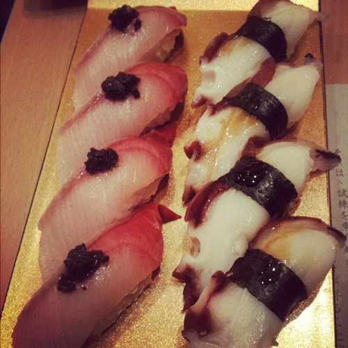 #truffles on #yellowtail #sushi #nigiri #yum #foodcoma #foodies #foodporn #igsg #yummy #lekker #instagram #ignation #igers #iphonesia  (Taken with Instagram)