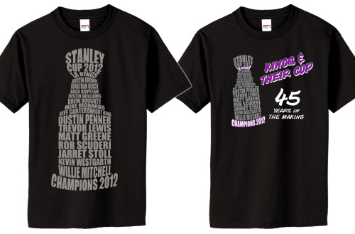 "The LA Kings are your 2012 Stanley Cup Champs!!  Kings ""Cup"" shirts available at www.duceTWO.com"