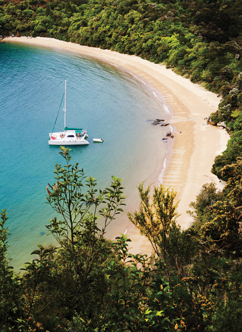 condenasttraveler:  New Zealand's Otherworldly Landscapes | Te Pukatea Bay, Abel Tasman National Park