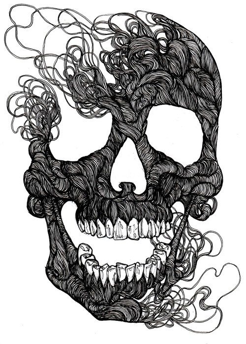 gaksdesigns:  Skull String