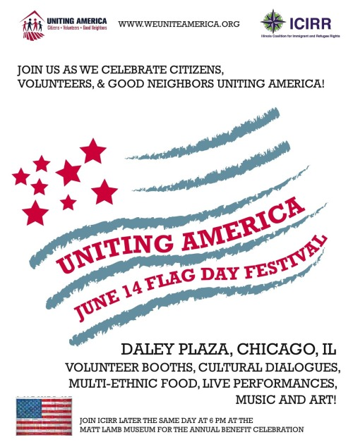 Join us at Bridgeview's first Uniting America Team meeting! We will be be discussing service projects to organize over the summer, including beginning work on a community mural, planning iftars, maintaining Universal School's garden, and much more! All ages are welcome. Friday, June 15th4:00 to 5:00 p.m.Mosque Foundation (7360 West 93rd Street, Bridgeview, IL 60455) Please contact Sara Hamdan at 708-373-5421 or shamdan@icirr.org if you plan on attending.
