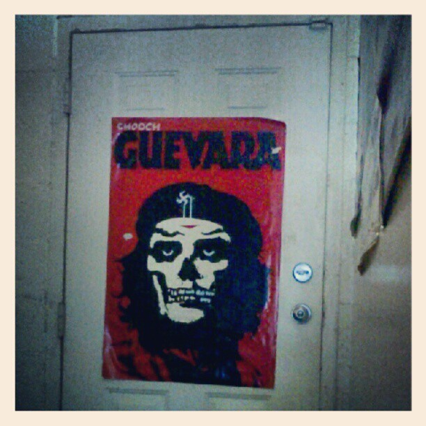#photoadayjune Day 11: door. This poster is on the back door of the shop. (Taken with Instagram)