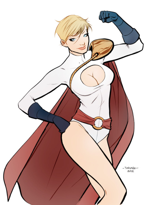 lospaziobianco:  mtakara:  commission. Powergirl.  by mtakara  ,
