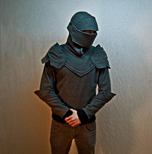 "thedailywhat:  Hoodie of the Day: Presenting the Grey Knight Armored Hoodie, made to order by Chadwick Dillon, whose Etsy shop SOFworks ""is in vacation mode at the moment because of overwhelming interest in said hoodie."" Good news, though — there's an option to be contacted via email upon Dillon's return. [boingboing]  -Topknot"