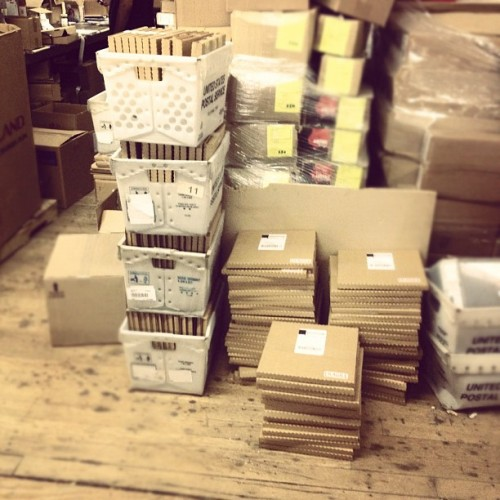 First wave of #suisLaLune LP pre-orders are going out today! (Taken with Instagram)