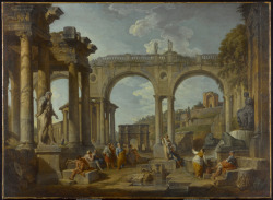 A Capriccio of Roman Ruins with the Arch of Constantine, c. 1755Giovanni Paolo Panini, Italian, 1691 - 1765Oil on canvas, 99.1 x 135.3 cmPurchase, Frank P. Wood Endowment, 1963© 2012 Art Gallery of Ontario