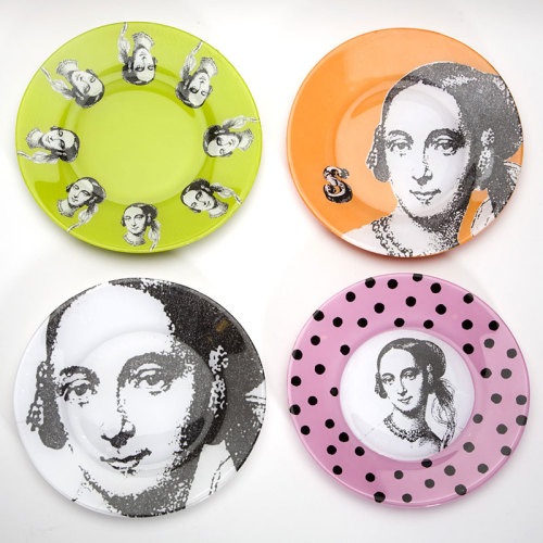 DIY Decoupage Plates   http://www.craftynest.com/2011/11/carol-endler-sterbenzs-decoupage-plates/  Truebluemeandyou: Really good tutorial. You know those skull plates (I've seen people commenting/asking how to do them) - the ones with the skulls in the middle and traditional china designs around the rim? You could easily to that using this technique.