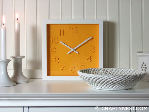 http://www.craftynest.com/2012/03/crafting-with-cameo-embossed-numbers-clock/#2