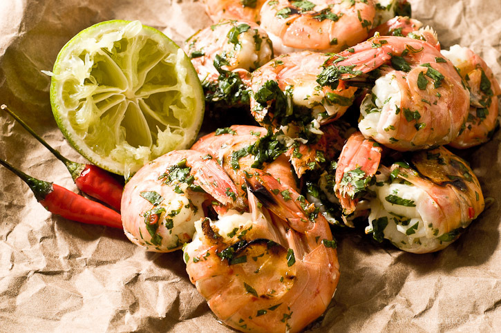 foodopia:  spot prawns with lime and cilantro: recipe here