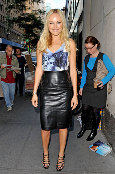 Malin Akerman looks gorgeous in Tibi and makes Derek Blasberg's Best-Dressed List