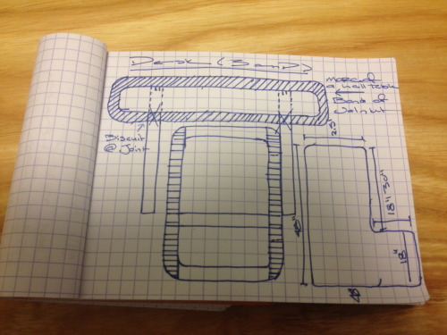 Rough Drawings and sizes of Desk