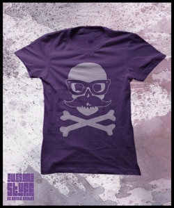 Hipster skull t-shirt ~ By PurpleCactusDesign