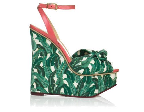 Charlotte Olympia's printed wedges are calling to us.