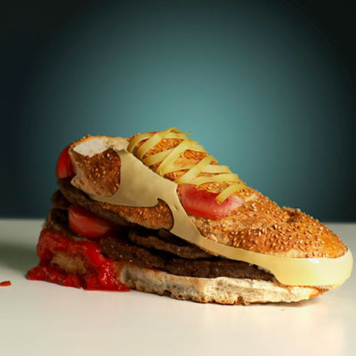 papermag:  Hamburger shoe.