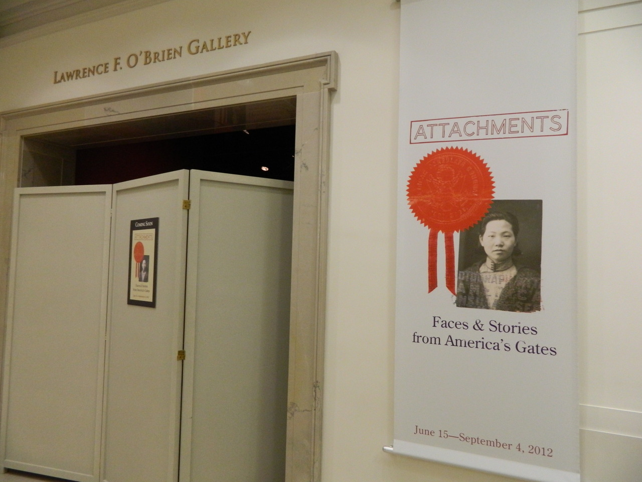 "Our new exhibit opens June 15! Attachments: Faces and Stories from America's Gates draws from the millions of immigration case files in the National Archives to tell a few of these stories from the 1880s through World War II. Come and explore the attachment of immigrants to family and community, and the attachment of government organizations to laws that reflected certain beliefs about immigrants and citizenship. There are dramatic tales of joy and disappointment, opportunity and discrimination, deceit and honesty. ""Attachments"" will be on view through September 4 in the National Archives. Admission is free!"