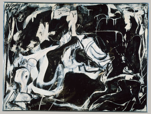 drenchedland:  Willem de Kooning, Black Untitled 1948