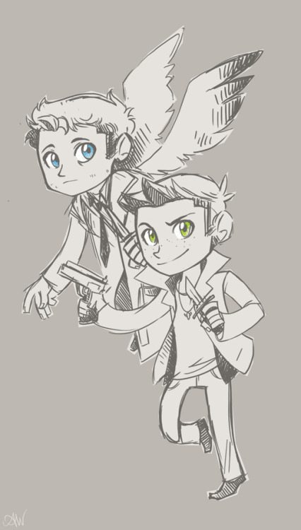 unicornempire:  Here, have some Cas'n'Dean. It's what's for dinner!