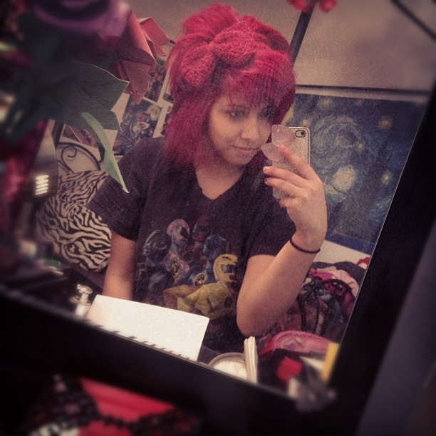 No make up and no extensions eeeeek   (Taken with Instagram)