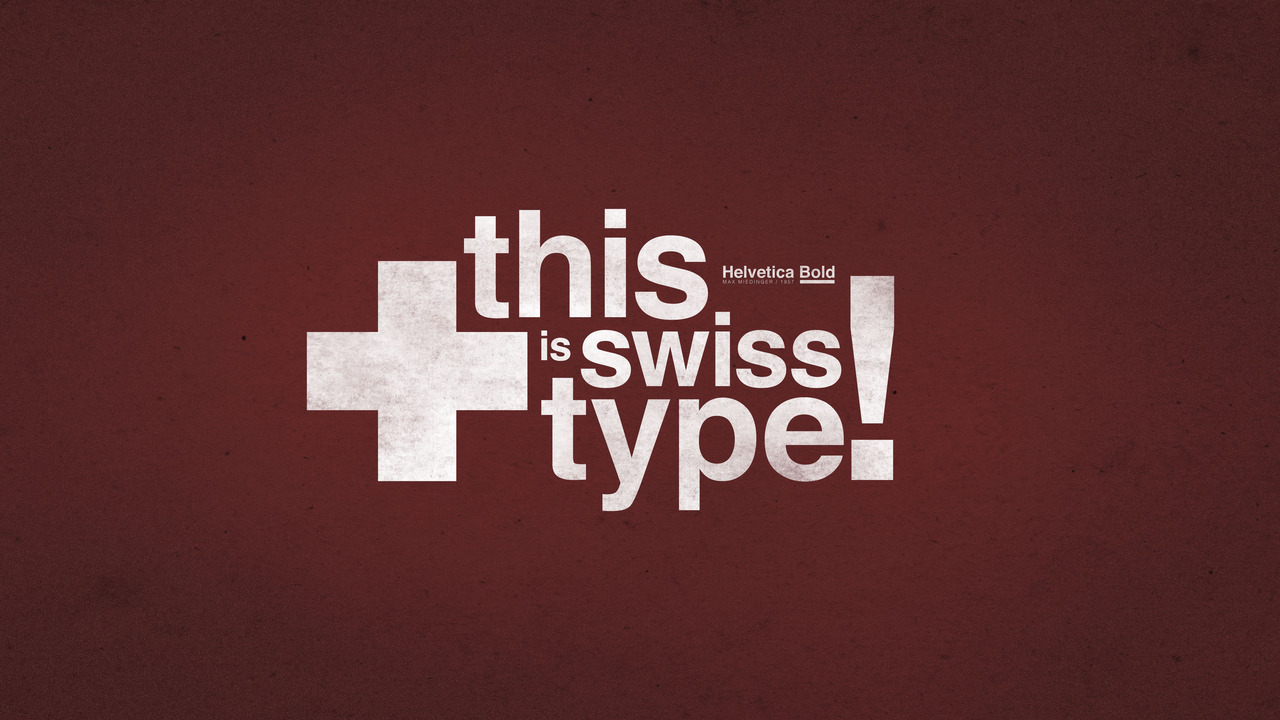 Whiteboard's salute to Swiss type. Designed by Kyle Barrett
