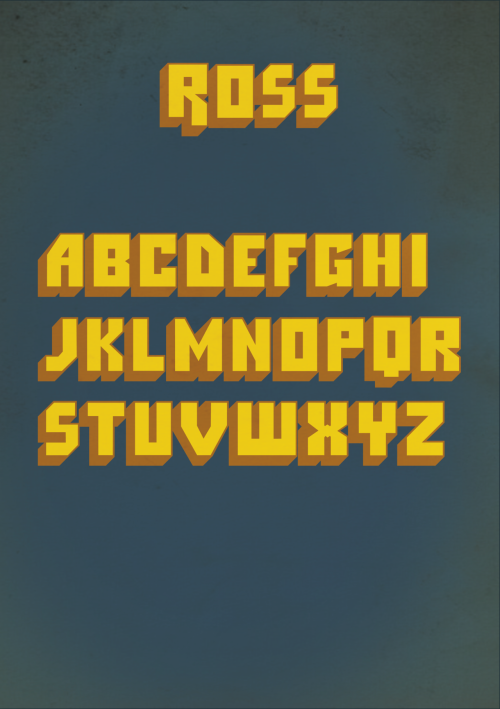 by9:  Ross Typeface